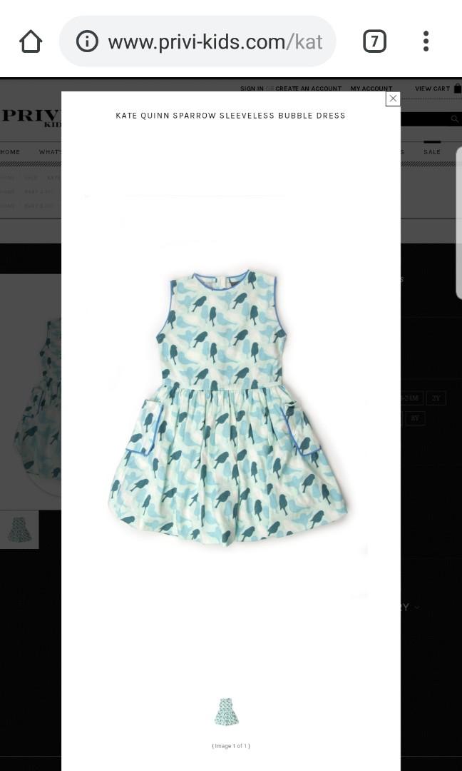 9e6626bcd01 Kate Quinn organic sparrow bubble dress in teal, Babies & Kids ...