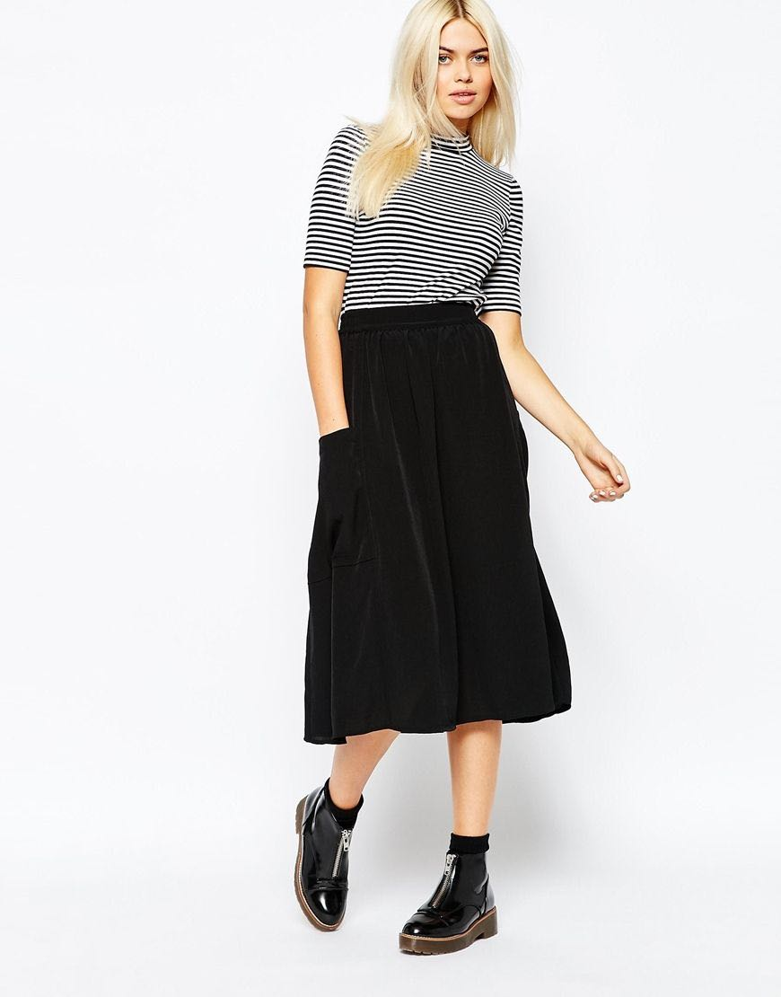 ce1f180502 Monki Black skirt, Women's Fashion, Clothes, Dresses & Skirts on ...
