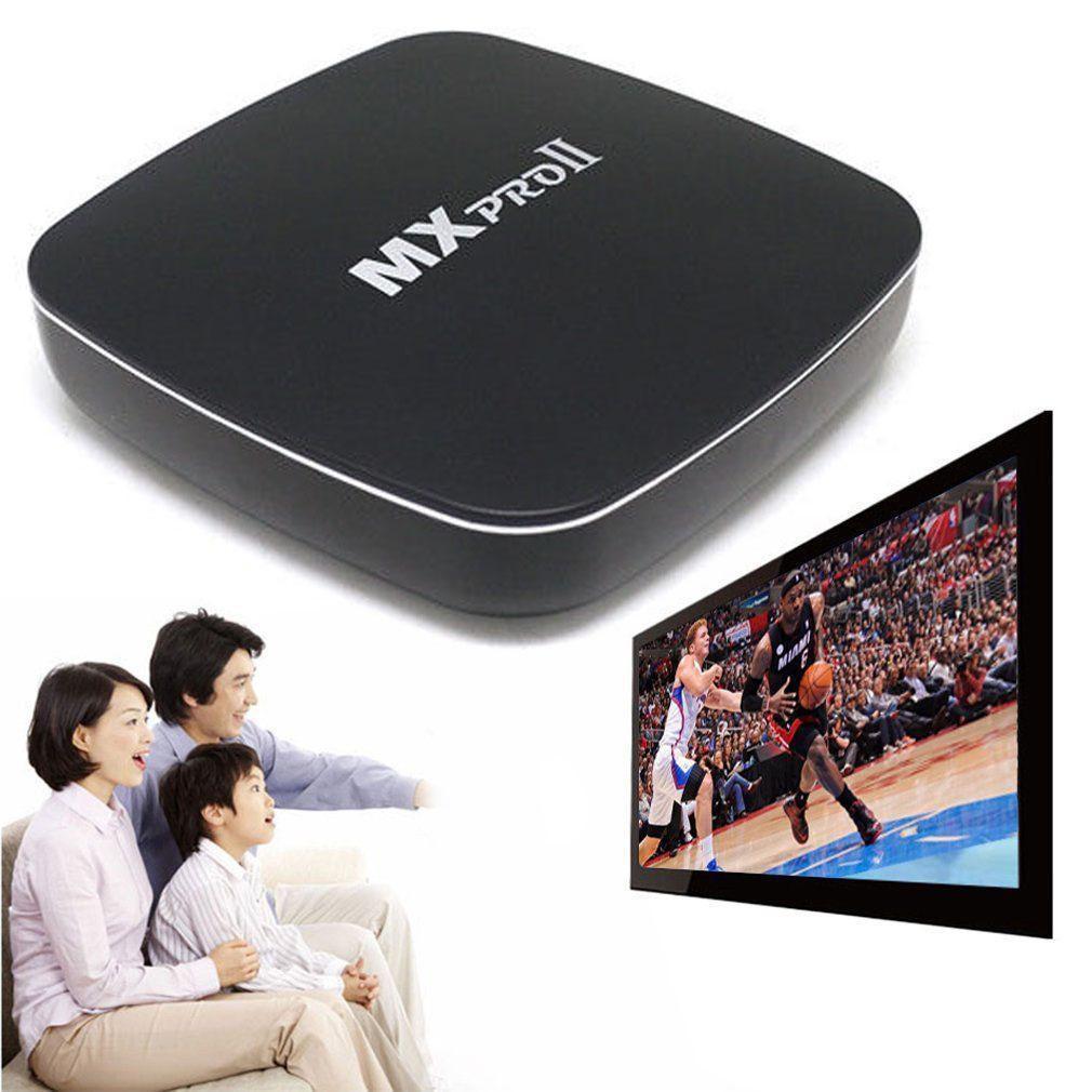 MX Pro II Android 5 1 S905 TV Box Quad Core Bluetooth Wifi 3D KODI Black US