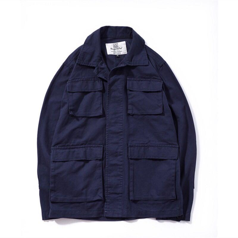 Navy blue military jacket 6a101b6e22a