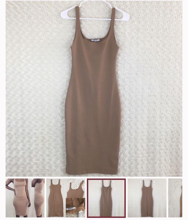 Nude with slit Zara dress