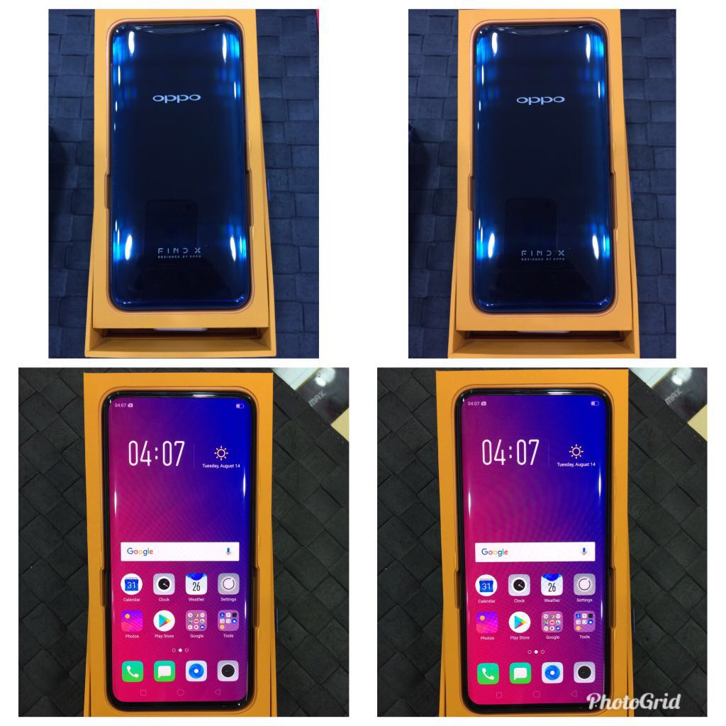 OPPO FIND X BLUE 8GB RAM/128GB ROM, Mobile Phones & Tablets
