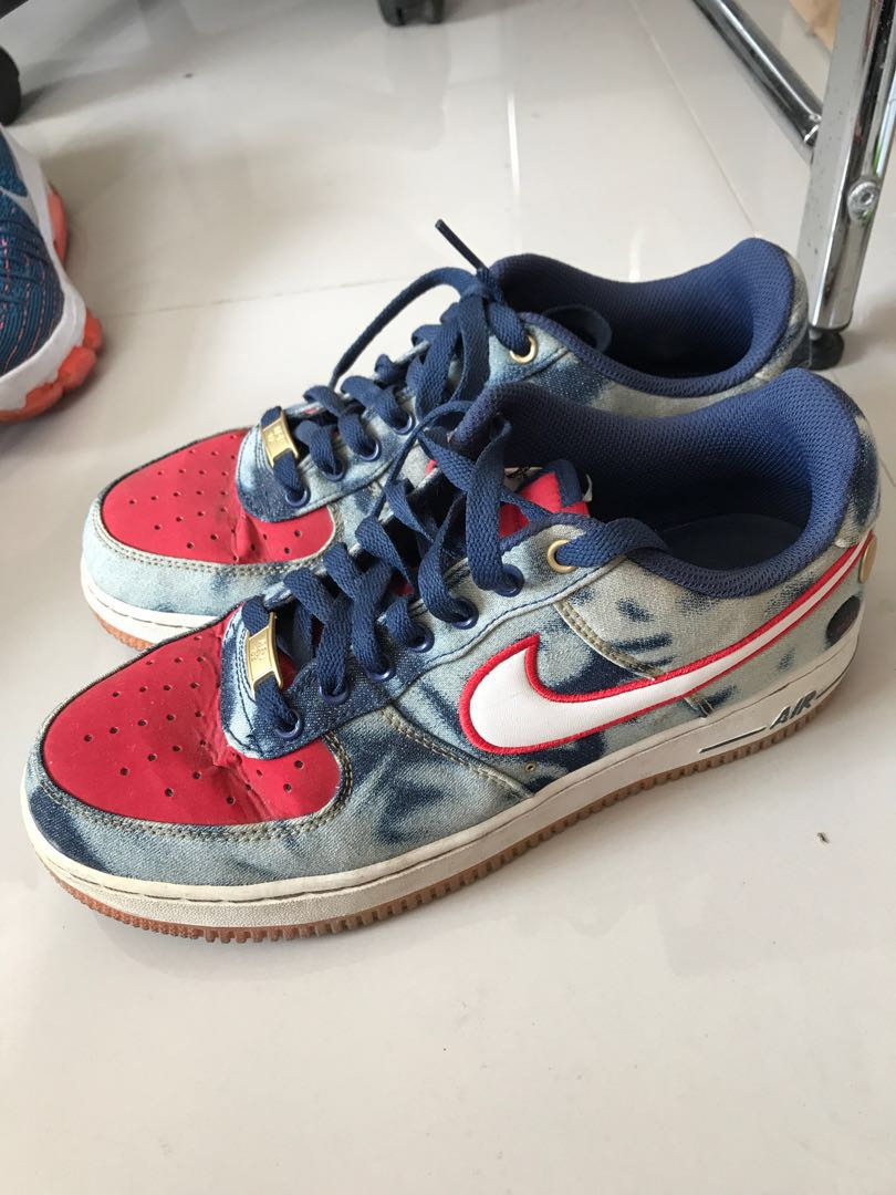 Original Nike Airforce 1 low  07 Acid Wash Denim 1a581df2b1
