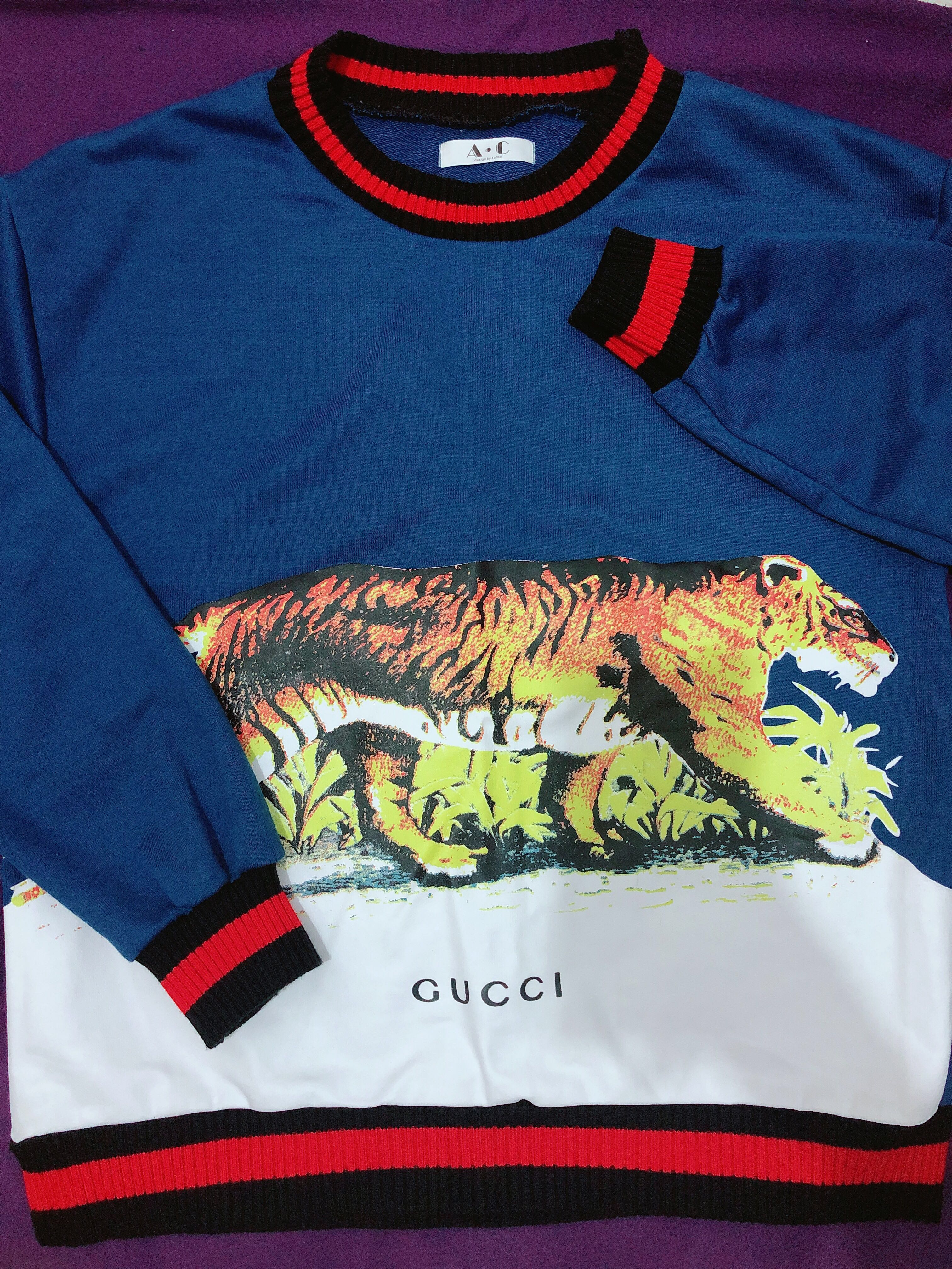 7b2469442f99f Oversized Gucci inspired Pullover Sweatshirt longsleeves (worn once ...