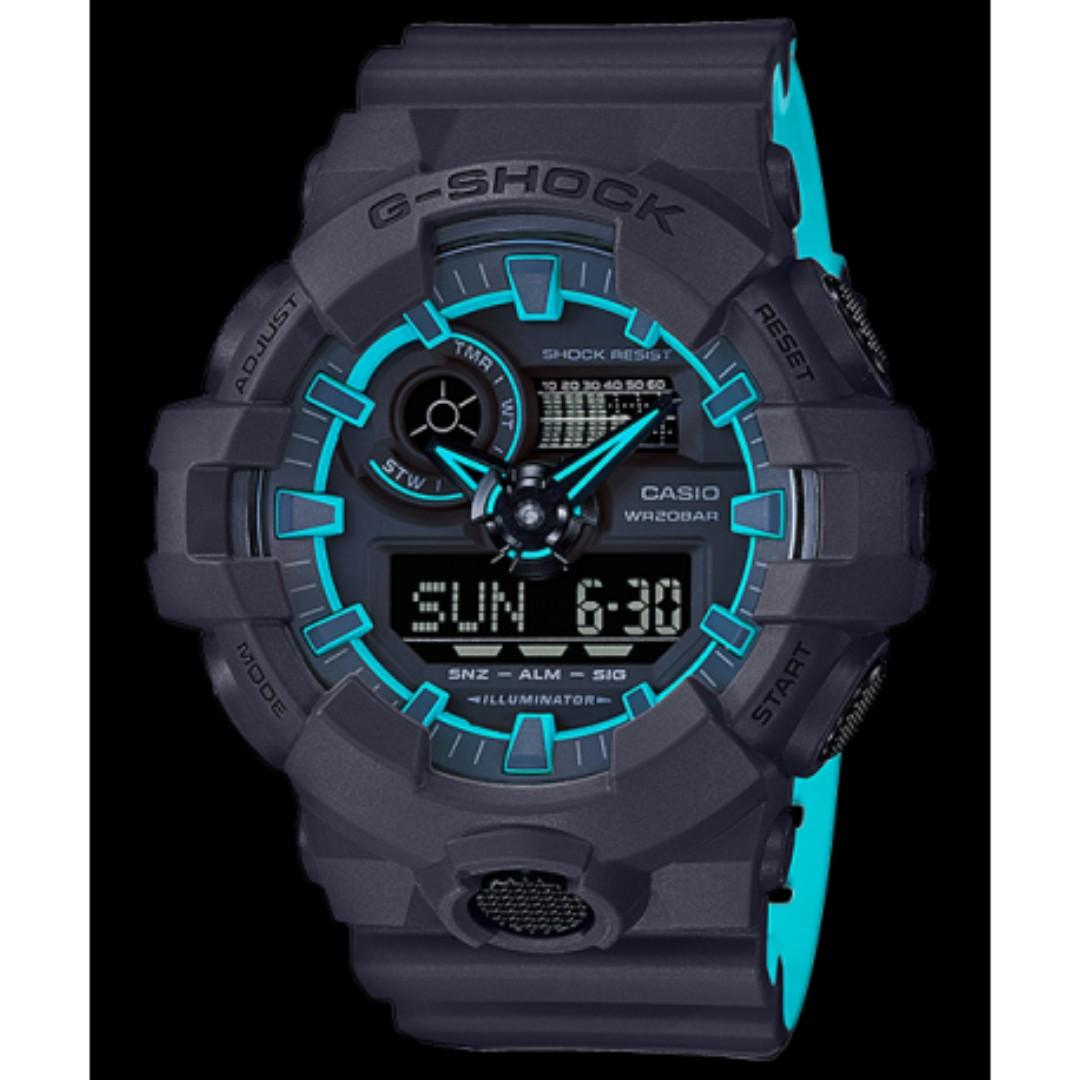 (BLACK FRIDAY PROMO 1 DAY ONLY)BNIB G SHOCK GA700 SE Layered Neon Colors Ana Digi World Time Watch