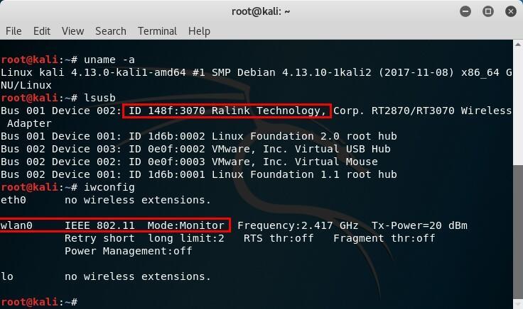 Ralink RT3070 Kali Linux Wireless USB Network Adapter