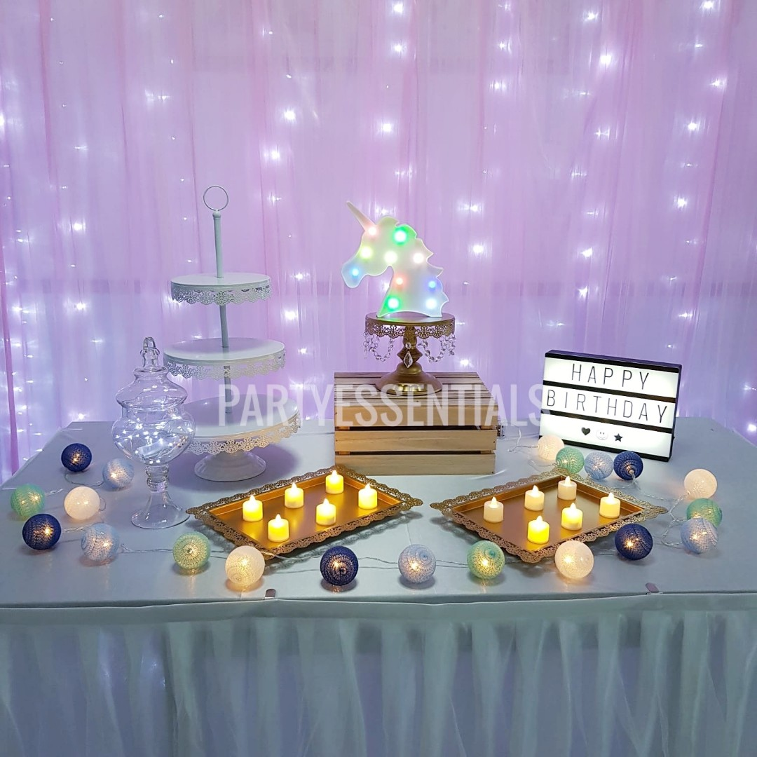 Rent Birthday Table Decor Set Design Craft Others On Carousell