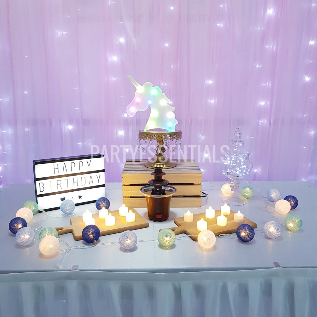 Rent Birthday Table Decor Set Everything Else On Carousell