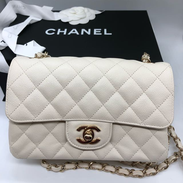 30495e9c00ee Reserved : Chanel Classic Flap mini White Caviar Leather , Luxury ...