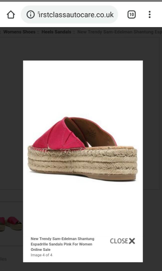 Espadrilles Sam Edelman Pink Size AU 8/EU 39/US 8. Worn once, RRP $100. Platform/Flatform Style.