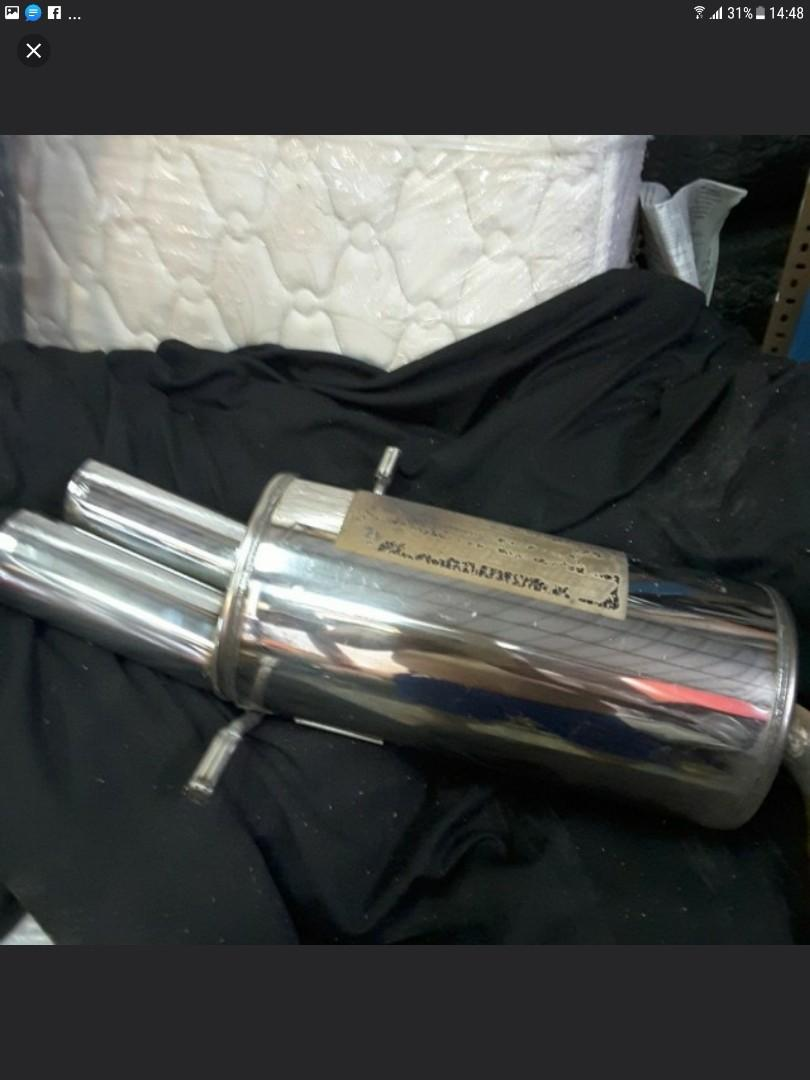 SUPERSPIN EXHAUST PIPE  w CERTIFICATE