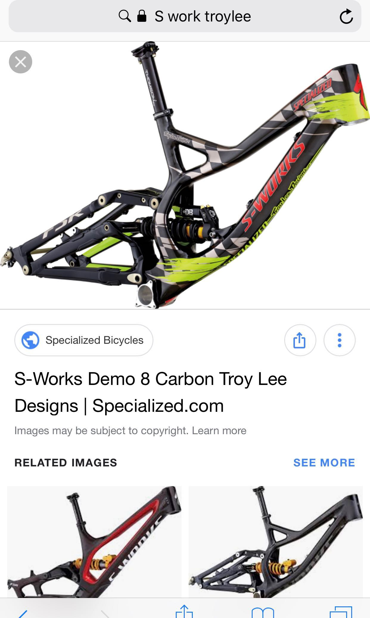 777fcf3e6b8 S-Works Demo 8 Carbon Troy Lee Design(26' frame only), Bicycles ...