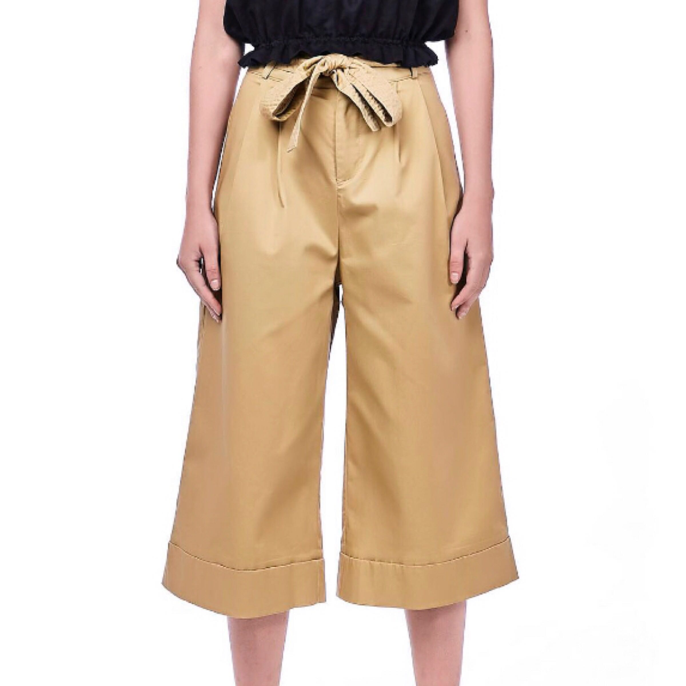 1ceb9e0325 The Editors Market Duscha Wide Leg Pants in Camel, Women's Fashion ...