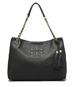 f4f496d30be Clearance  Tory Burch Thea Black Leather Tote
