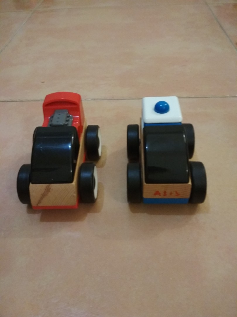 Toy Car Ikea Lillabo Wooden Car X 2