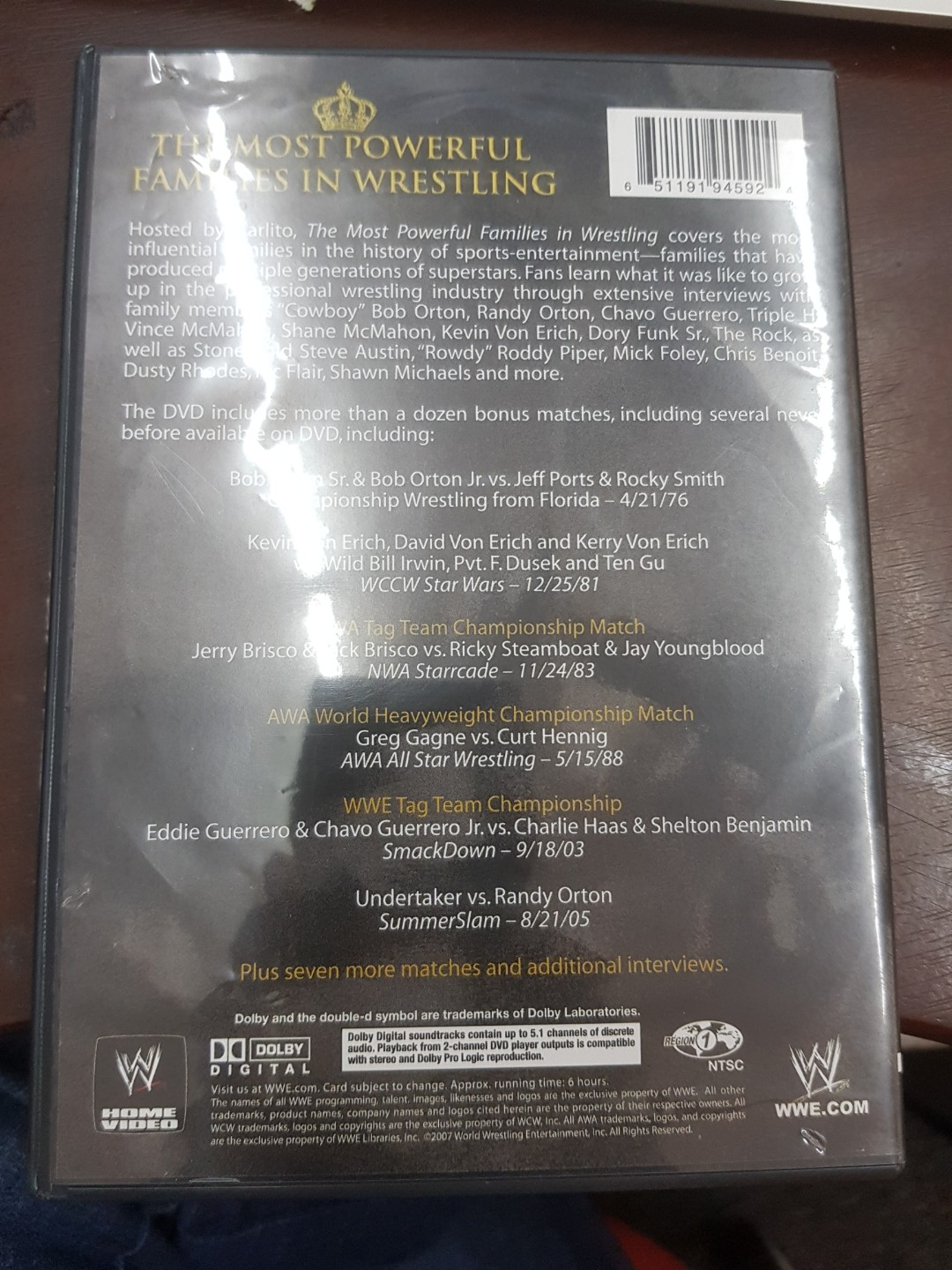 Wwe wwf the most powerful families in wrestling dvd region 1