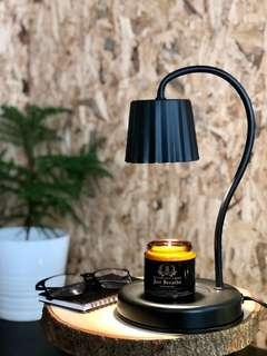 Black Vintage Style Electric Candle Warmer Lamp