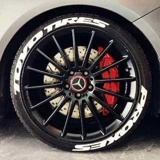 Tyres Lettering