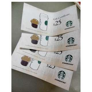 Starbucks禮卷 換 百佳禮卷