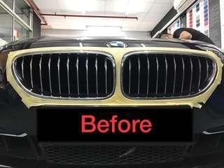 BMW grille plasti dip matte black