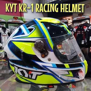 KYT KR-1 ANDREA LOCATELLI RACING HELMET..!!