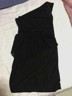 Elegant Black Venus Cut Dress