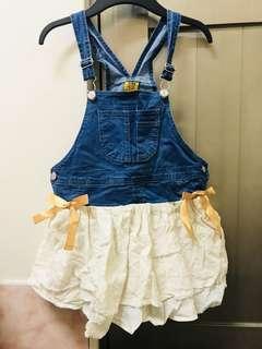 🚚 吊帶裙(牛仔風)110-120cm