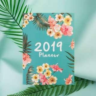 🚚 Modern 2019 planner in pink or green #single11
