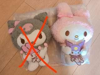 日本限定 Kuromi & Melody 手抱娃娃公仔