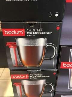 新加坡代購預定Bodum mug and plastic tea strainer