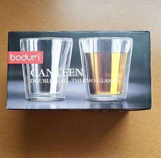 新加坡代購預定bodum canteen double wall glass 6oz x 2 pcs