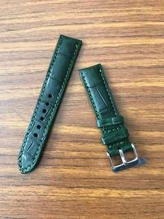 20mm/18mm Authentic British Racing Dark Green Watch Strap 🌟 Rolex Datejust 2 II 36 41 Daytona Submariner Girard Perregeux Heritage Chopard Chronograph 🌟