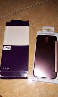 Hardcase flip cover hp samsung j7 pro pink rosegold