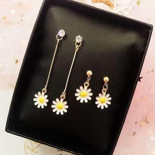 Anting bunga flower earrings korean earrings for party ootd hnm f21 forever21 bershka stradivarius
