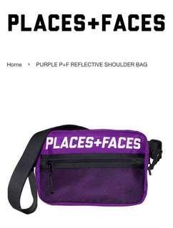 Places + Faces Reflective Shoulder Bag (Purple)