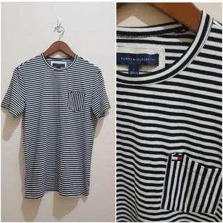 Kaos tommy hilfiger pocket striped tee