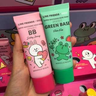 PO Line Friends x Mille Beaute Super Whitening Gold Rose And Rose Baby Primer