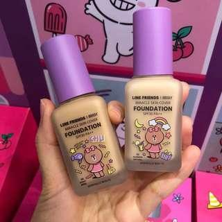 PO Line Friends x Mille Beaute Miracle Skin Cover Foundation