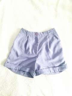 American Apparel High Waisted Lilac Shorts