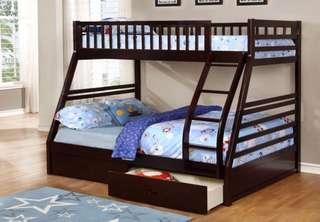 Brand new in box twin/full bunk bed(mattress sold separately)