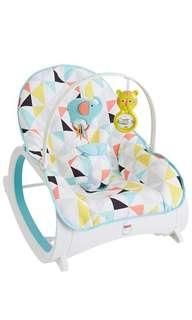 ~Ready Stocked~ Fisher-Price Infant-to-Toddler Rocker, Geo Multicolor