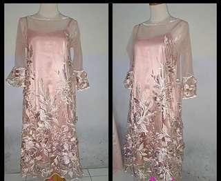 Dress pink tulle 3d