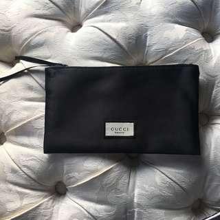 GUCCI beauty authentic silk makeup bag clutch