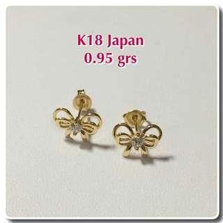 18K Japan Gold Earrings