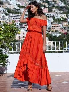 Kivari off the shoulder coral dress