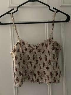 Brandy Melville flower tank top