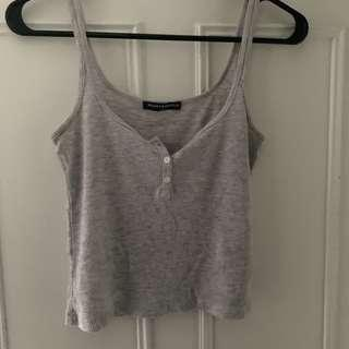 Brandy Melville button up tank top