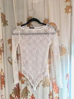 Stretchy lace bodysuit - Size S/M