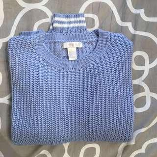 F21 baby blue knit sweater