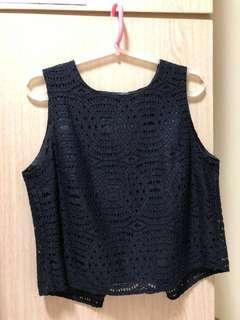 Dorothy Perkins Blue Lace Top